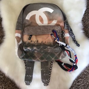 Distressed backpack